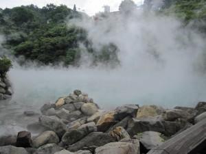 北投石で有名な北投温泉