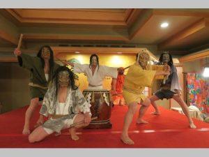 「御陣乗太鼓」 台湾の北投温泉地で実演